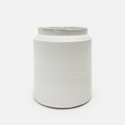 Large Tall White Jar