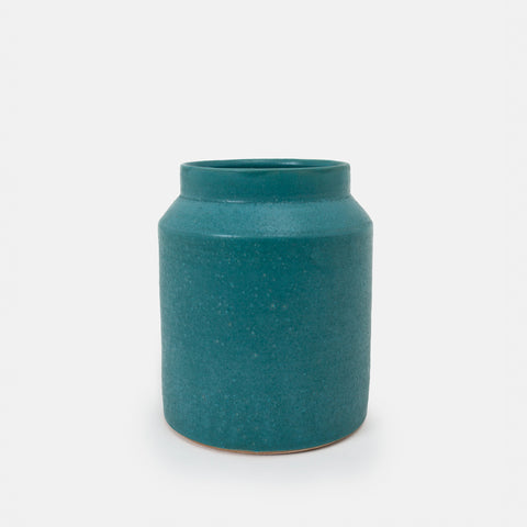 Short Blue Jar