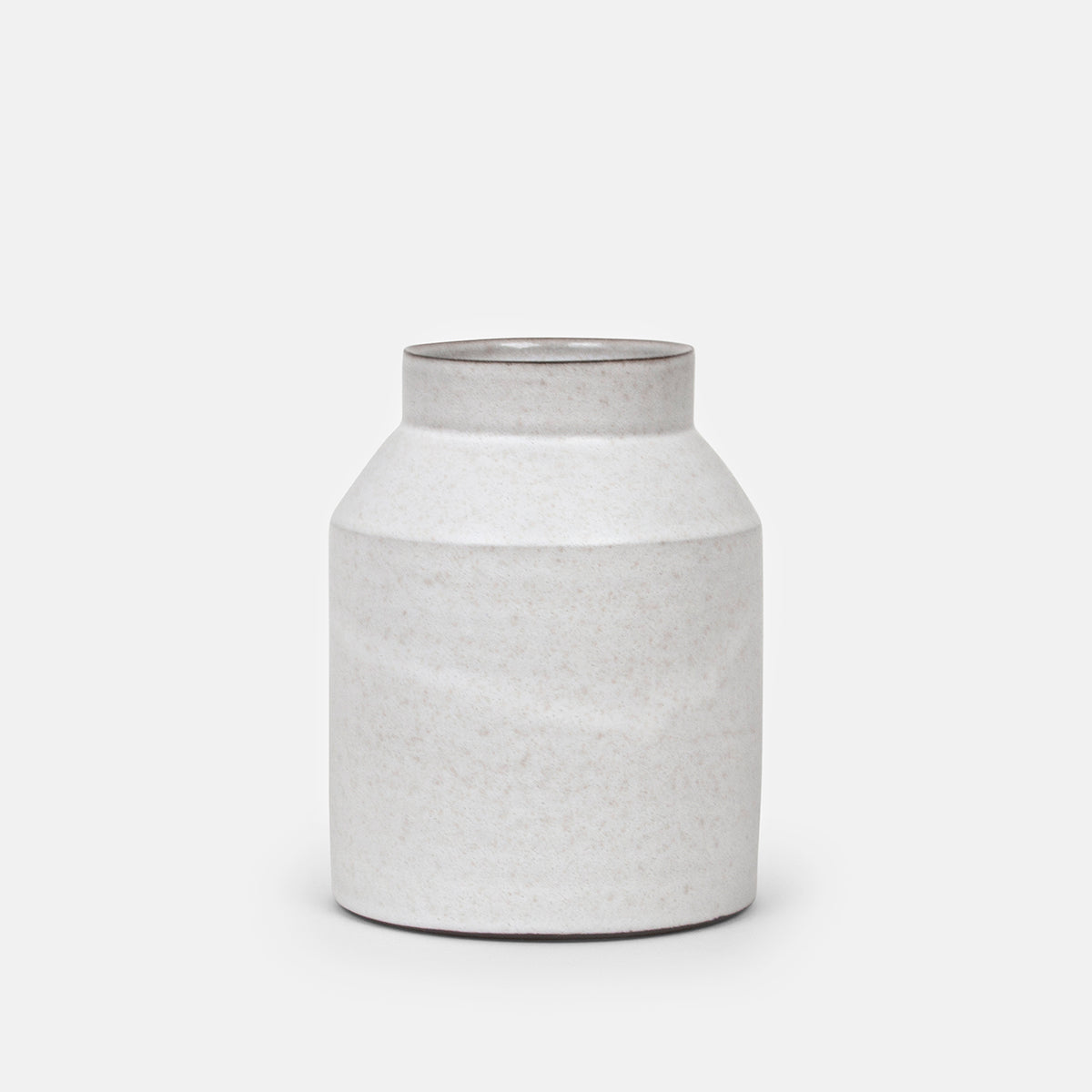 Short White Jar