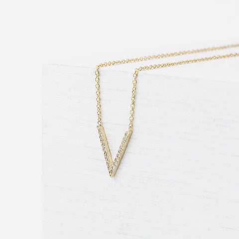 Necklaces still house nyc v necklace with pave diamonds aloadofball Image collections