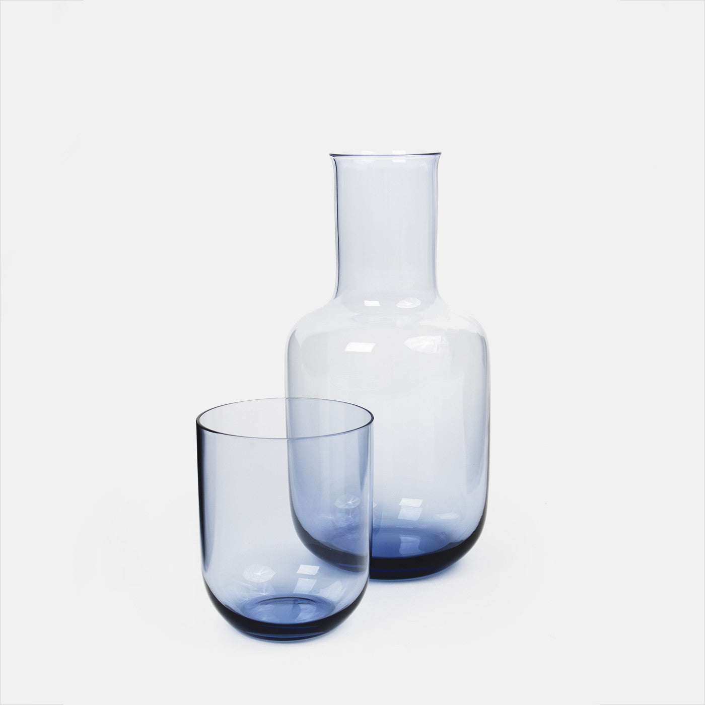 Blue Carafe With Cup