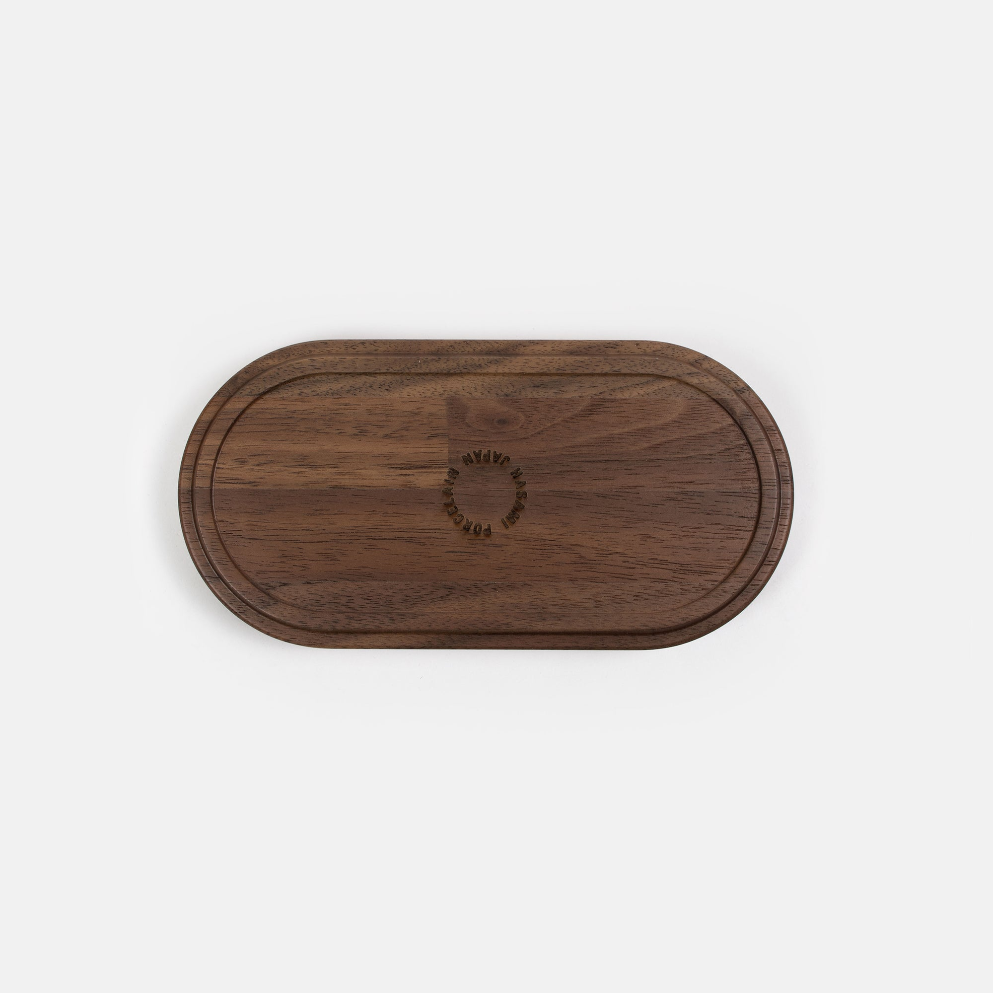 Short Oval Walnut Tray