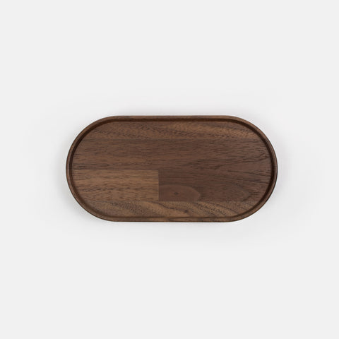 "6.75"" Oval Walnut Tray"