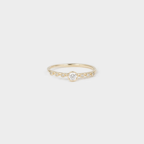 Round Diamond Dew Ring