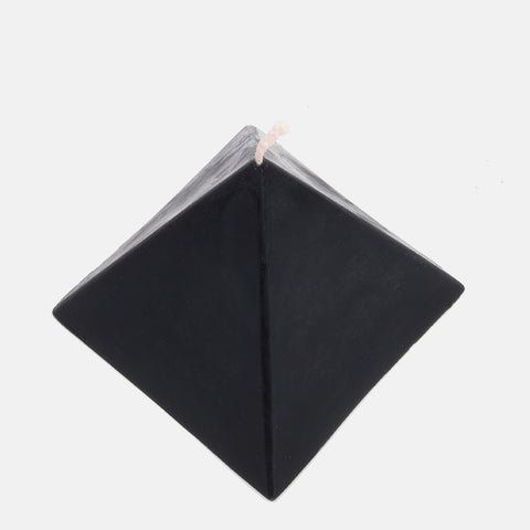 Pyramid Beeswax Candle in Black
