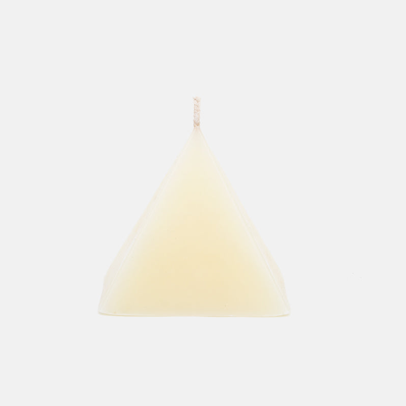 Pyramid Beeswax Candle in White