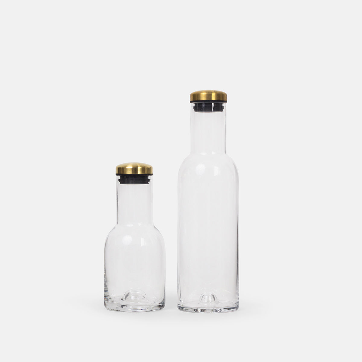 Small Bottle Carafe with Brass Lid