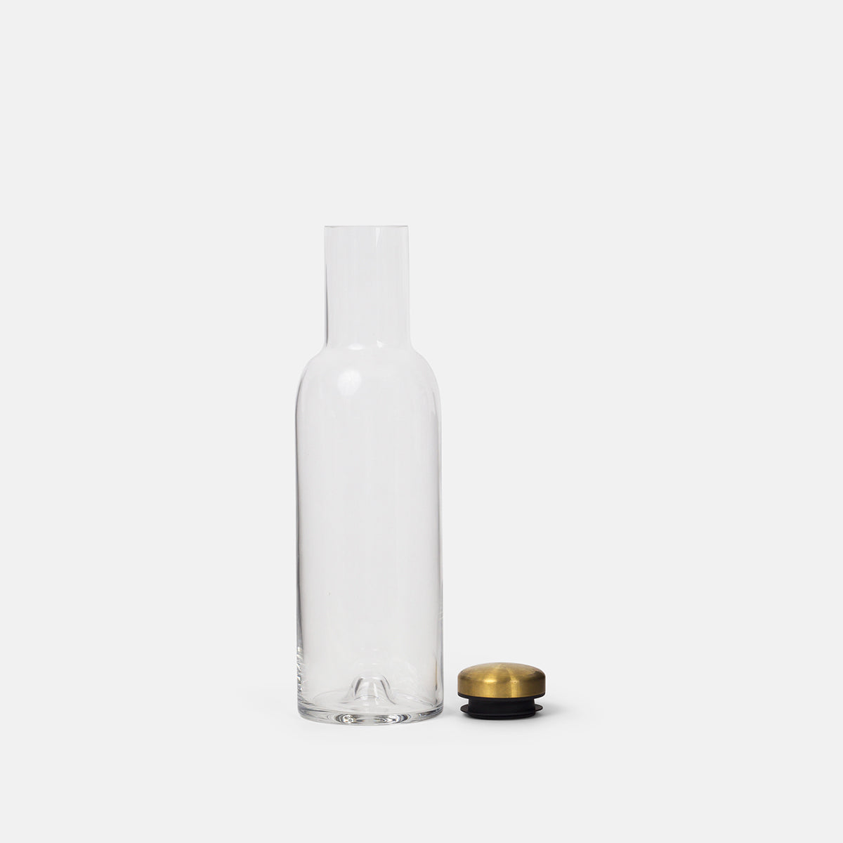 Large Bottle Carafe with Brass Lid