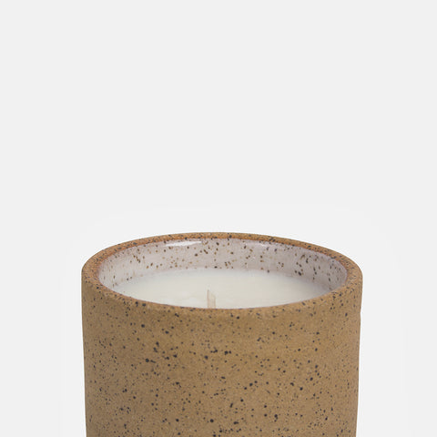 Joshua tree ceramic candle