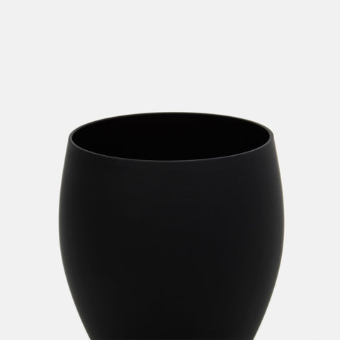 Black Glass Small Tapered Tumbler