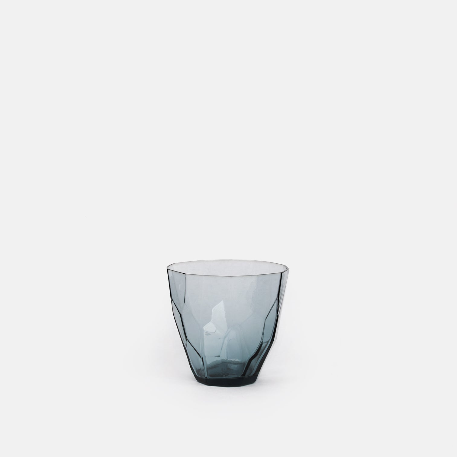 Faceted Blue Glass