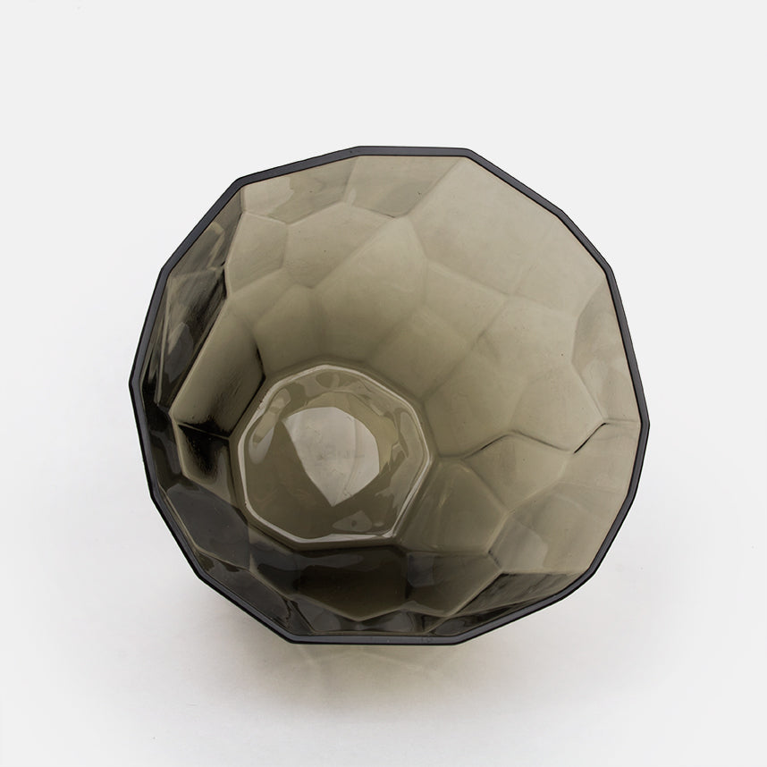 Faceted Grey Glass