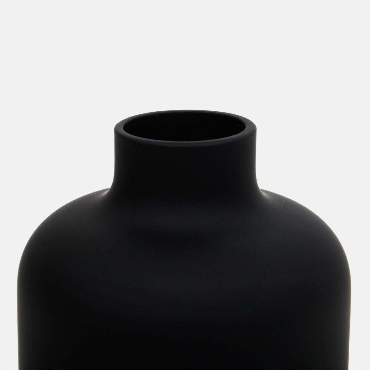 Black Glass Bottle