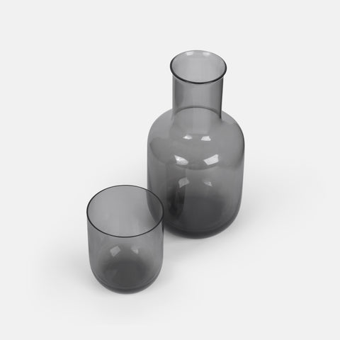 Carafe with Cup in Gray