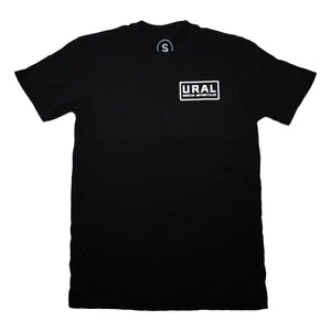 URAL Text Badge Crew Neck T-Shirt Black