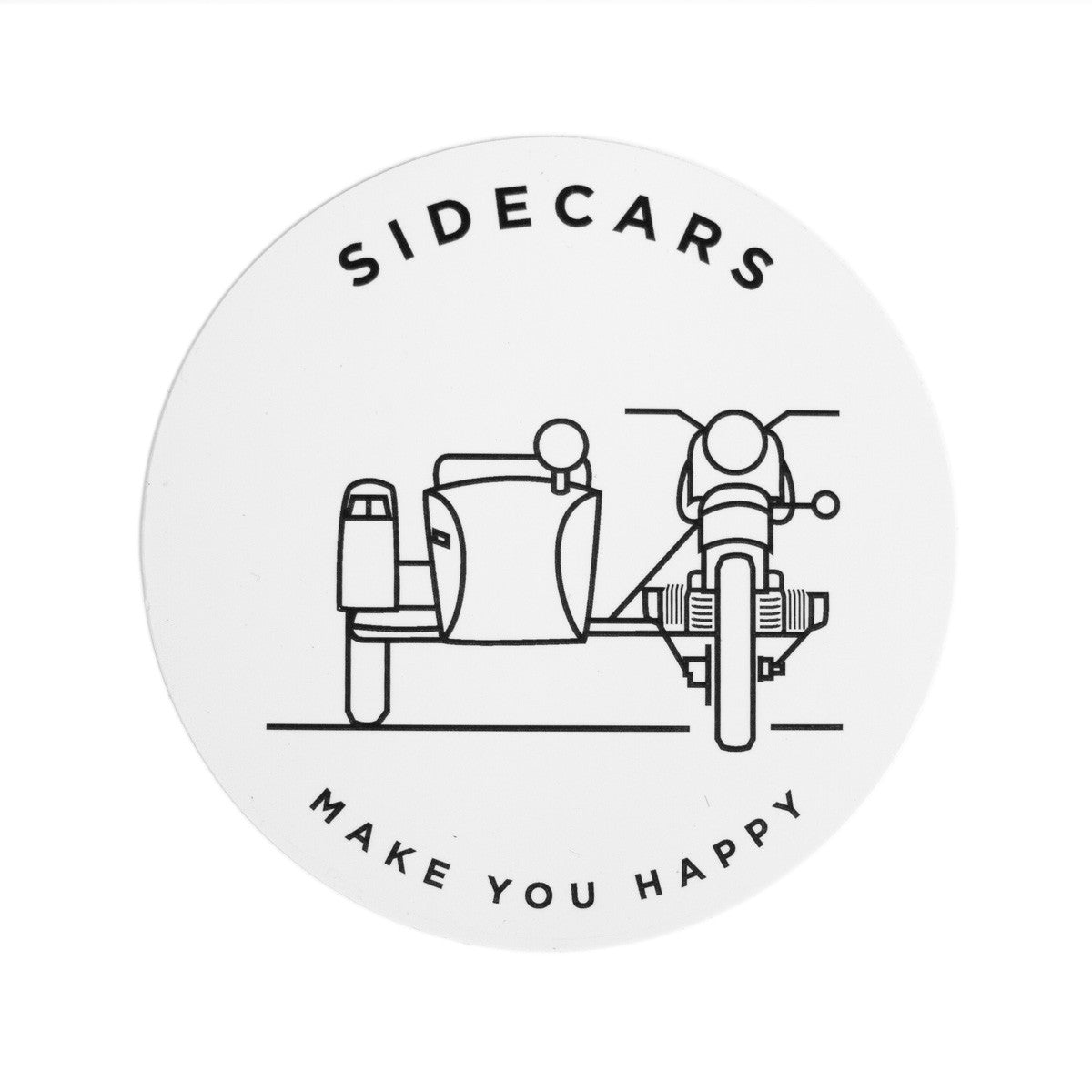Sidecars Make You Happy Sticker