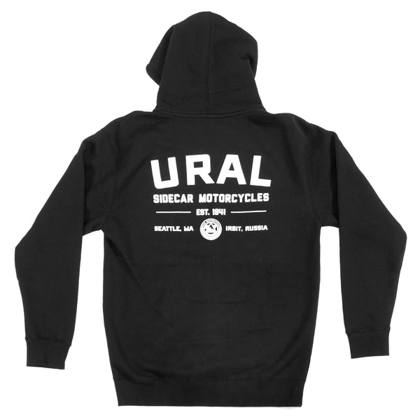 URAL Text Badge Hoodie Black