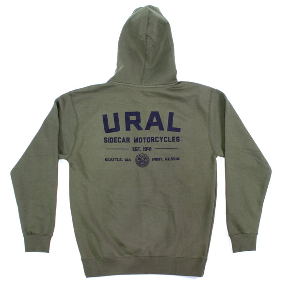 URAL Text Badge Hoodie Green