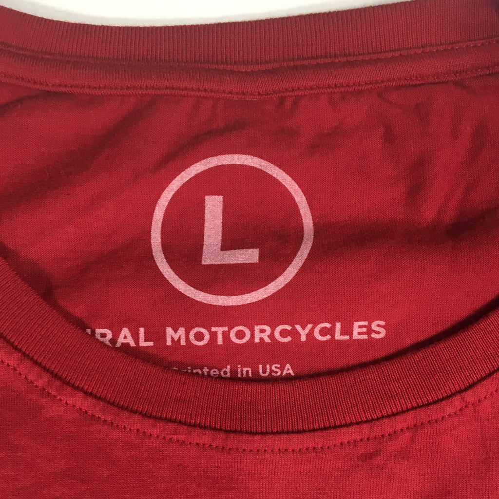 Ladies T-Shirt Sidecar Badge Red