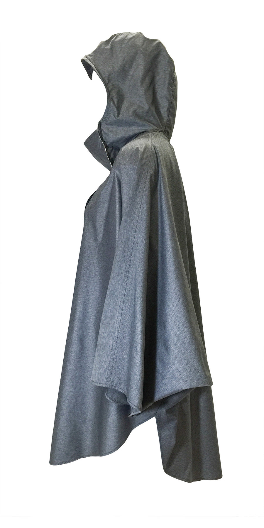 WOMEN'S Heather Grey Ultralight Nylon Poncho by Atelieri - ATELIERI  - 1