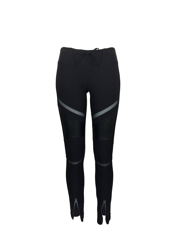 Women's Black Biker Leggings by Atelieri - ATELIERI