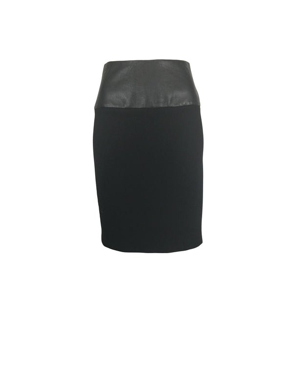 Sleek Black Zip-Up Pencil Skirt by Atelieri - ATELIERI