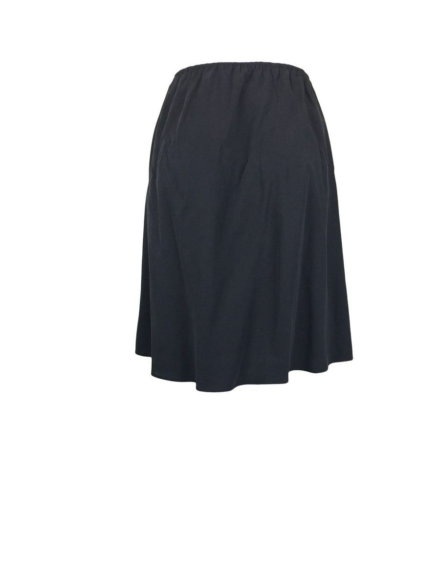Charcoal Cupro Gathered Full Skirt by Atelieri