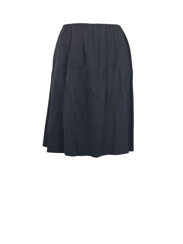 Charcoal Cupro Gathered Full Skirt by Atelieri - ATELIERI
