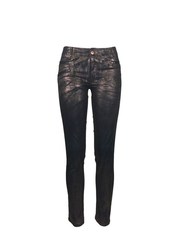 Copper Finish Skinny Jeans by Atelieri