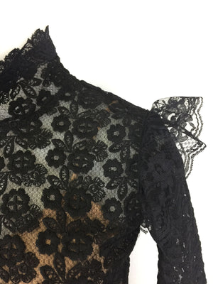 Black Lace Turtleneck by Atelieri - ATELIERI