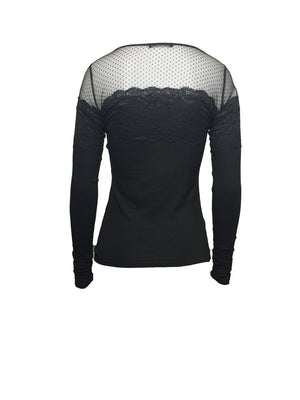 Stretch tulle and lace tee by Atelieri