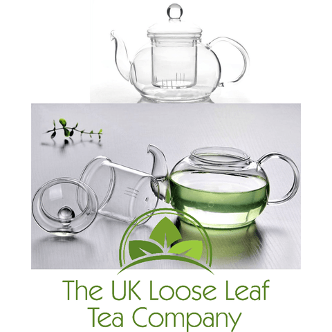 600ml Glass teapot with Glass Infuser - The UK Loose Leaf Tea Company