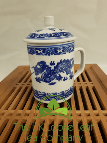 Blue and White Dragon Design Mug - The UK Loose Leaf Tea Company