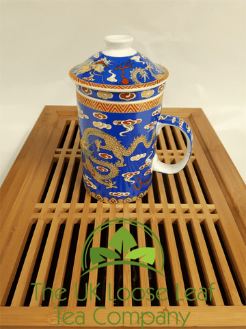 Blue Dragon Infuser Mug - The UK Loose Leaf Tea Company