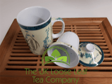Bamboo Design Infuser Mug - The UK Loose Leaf Tea Company