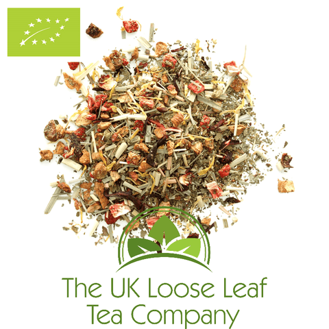 Strawberry Basil Organic Infusion - The UK Loose Leaf Tea Company
