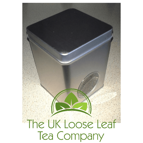 Silver Window Tea Caddy - The UK Loose Leaf Tea Company - 1