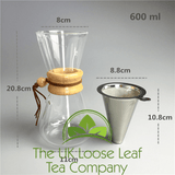 600ml Coffee Pot drip system with internal strainer