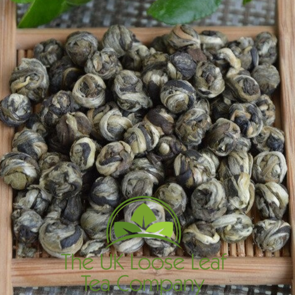 China High Mountain BaiHao Jasmine Dragon Pearls - The UK Loose Leaf Tea Company