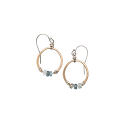 10224 - Moss Aquamarine Horseshoe Earrings