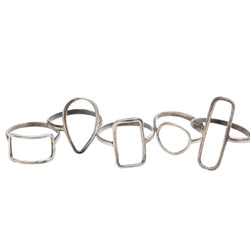 40015 - Sterling Silver Large Rectangle Ring