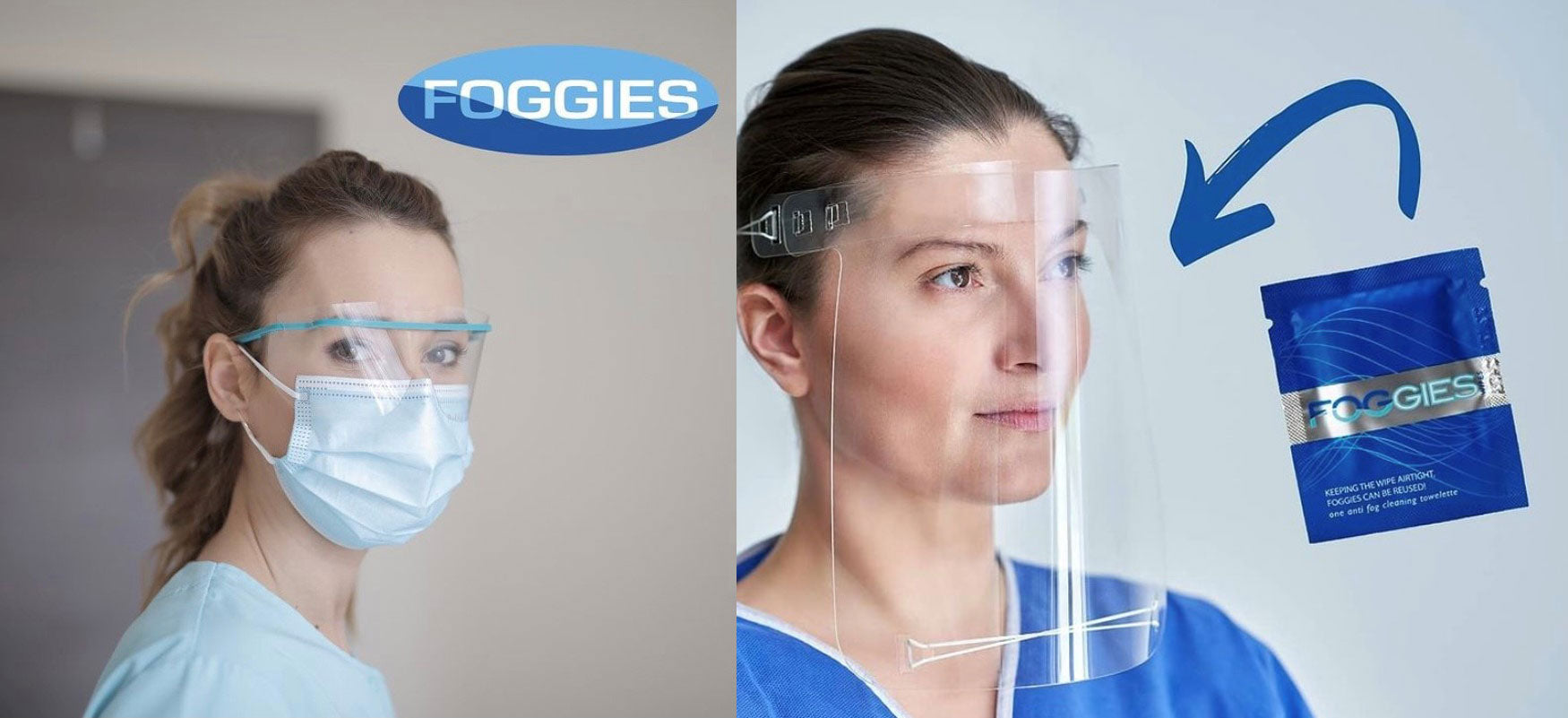 FOGGIES Anti Fog for Shield and Glasses with Mask