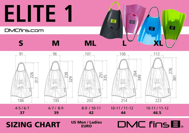 DMC ELITE FINS Grab Bag Assorted Colors