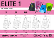 DMC ELITE FINS HOT PINK/ CHARCOAL STRAP