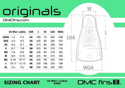 DMC ORIGINAL TRAINING FINS-CHARCOAL/FLOURO