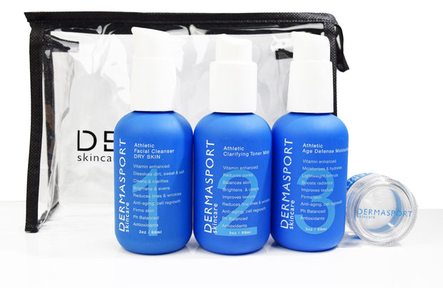 DERMASPORT Complete Set in Cosmetic Bag