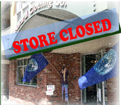 Natural Clothing store closed