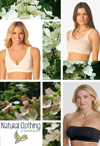organic cotton bra padded made in USA Natural Clothing Company