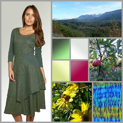 linen dress and Nature