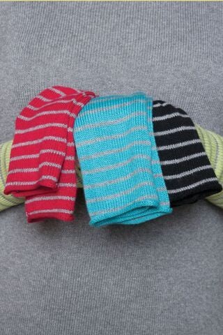 Nikki Striped Gloves - Natural Clothing Company